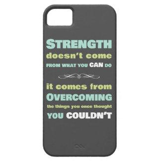 Cita de motivación de la fuerza iPhone 5 Case-Mate carcasa