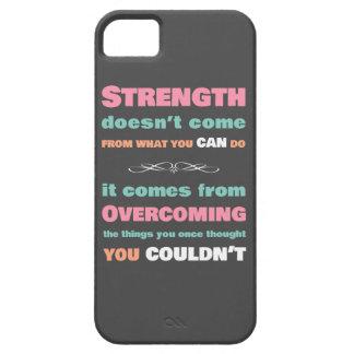 Cita de motivación de la fuerza iPhone 5 carcasas