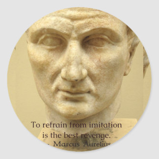 Cita de motivación de Marco Aurelius sobre VIDA Pegatina Redonda