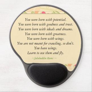 Cita de motivación de Rumi Alfombrillas Con Gel