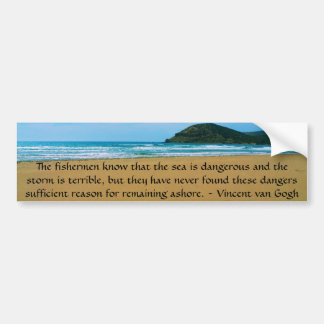 Cita de motivación de Vincent van Gogh Pegatina Para Auto