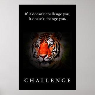 Cita de motivación del desafío de la cara salvaje póster