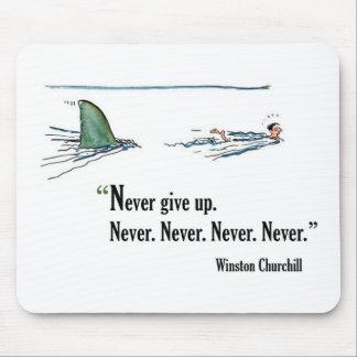 Cita de motivación del examen de Winston Churchill Tapetes De Raton