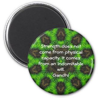 Cita de motivación inspirada de Gandhi Imán Redondo 5 Cm