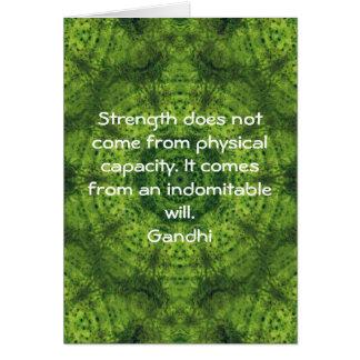 Cita de motivación inspirada de Gandhi Tarjeta De Felicitación