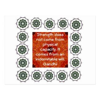 Cita de motivación inspirada de Gandhi Tarjetas Postales