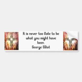 Cita de motivación inspirada de George Eliot Pegatina Para Auto