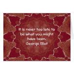 Cita de motivación inspirada de George Eliot Tarjetón