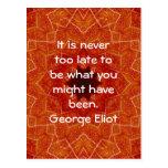 Cita de motivación inspirada de George Eliot Postal