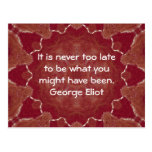 Cita de motivación inspirada de George Eliot Tarjetas Postales