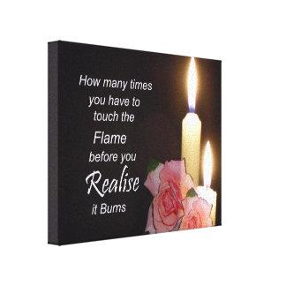 Cita de motivación - realice la lona de las quemad impresiones en lienzo estiradas