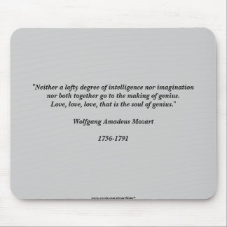 Cita de Mozart Alfombrillas De Raton
