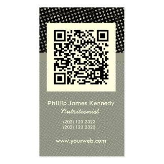 Cita de negocio   del código de barras tarjetas de visita