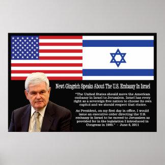 Cita de Newt Gingrich - la embajada de los E E U Impresiones