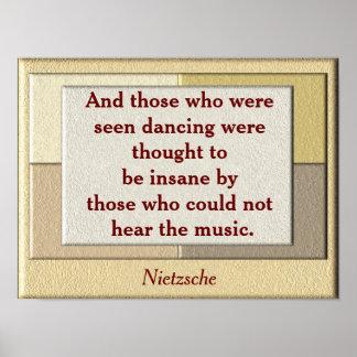 Cita de Nietzsche - poster del arte