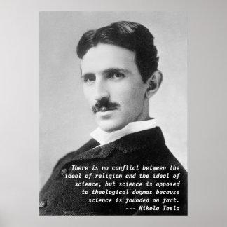 Cita de Nikola Tesla Poster