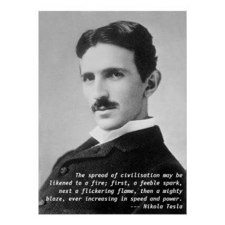 Cita de Nikola Tesla Póster