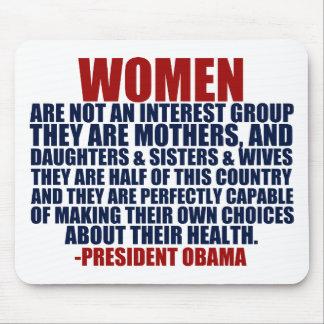 Cita de Obama de las derechas de las mujeres Alfombrillas De Ratón