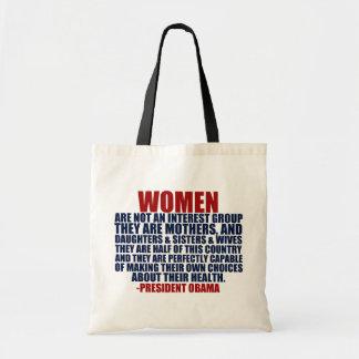 Cita de Obama de las derechas de las mujeres Bolsa Tela Barata