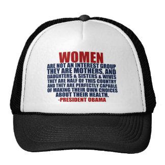 Cita de Obama de las derechas de las mujeres Gorras De Camionero