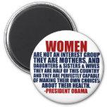 Cita de Obama de las derechas de las mujeres Imán Para Frigorifico