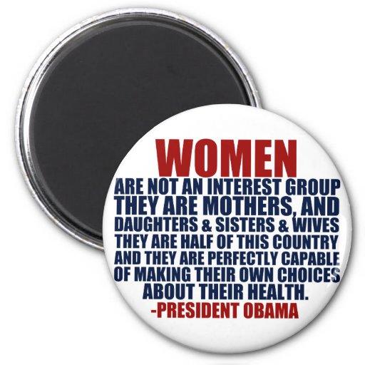 Cita de Obama de las derechas de las mujeres Imán Redondo 5 Cm