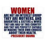 Cita de Obama de las derechas de las mujeres Postales