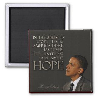 Cita de Obama Imán Cuadrado