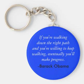 Cita de Obama Llaveros Personalizados