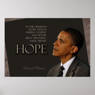 Cita de Obama Poster