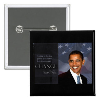 Cita de Obama Pin Cuadrado