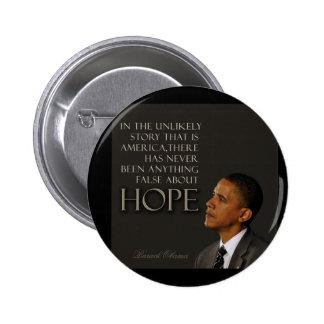 Cita de Obama Pin Redondo De 2 Pulgadas