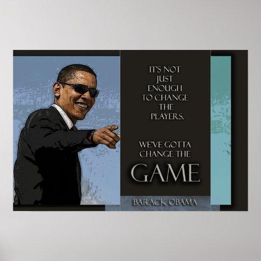 Cita de Obama Posters