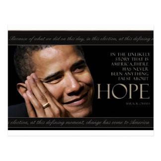 Cita de Obama Tarjetas Postales