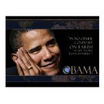 Cita de Obama Tarjeta Postal