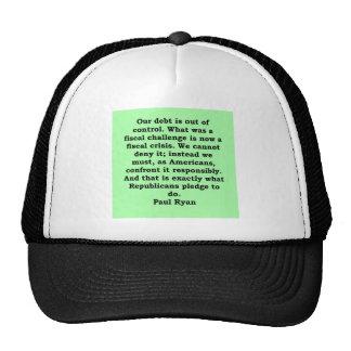 cita de Paul Ryan Gorras