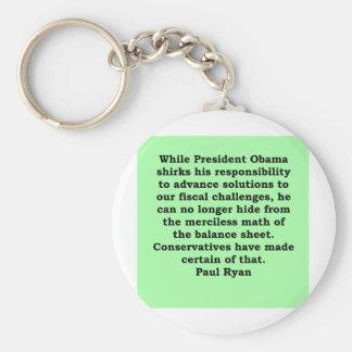 cita de Paul Ryan Llavero Redondo Tipo Pin