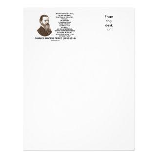 Cita de Peirce del objeto de la muestra de los tem Plantilla De Membrete