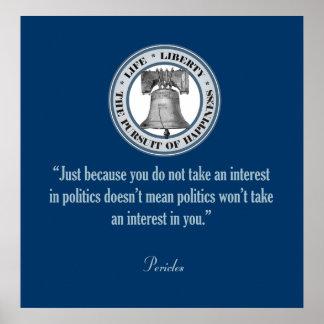 Cita de Pericles Póster