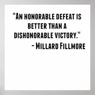 Cita de presidente Millard Fillmore de los Póster