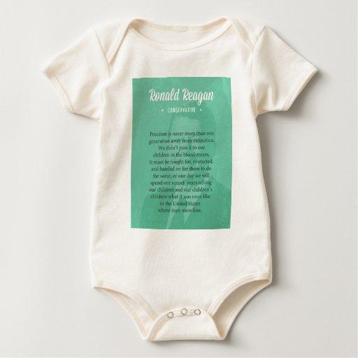 Cita de presidente Ronald Reagan Body Para Bebé