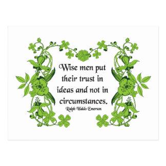 Cita de Ralph Waldo Emerson - hombres sabios Postales