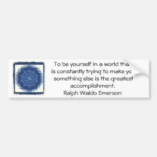 CITA de Ralph Waldo Emerson inspirada Etiqueta De Parachoque
