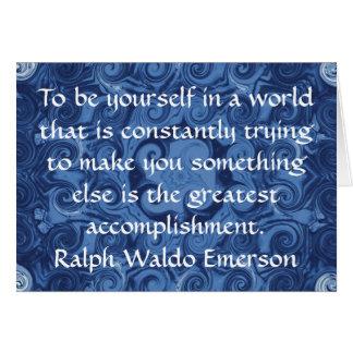 CITA de Ralph Waldo Emerson inspirada Tarjeta De Felicitación