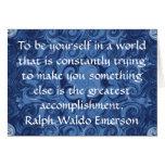 CITA de Ralph Waldo Emerson inspirada Tarjetas