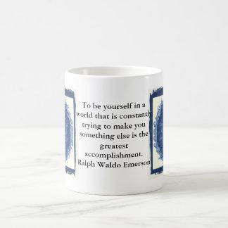 CITA de Ralph Waldo Emerson inspirada Taza De Café