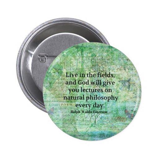 Cita de Ralph Waldo Emerson sobre dios y la natura Pin