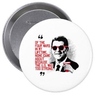 Cita de Reagan - cuatro guerras en mi curso de la Pin Redondo 10 Cm