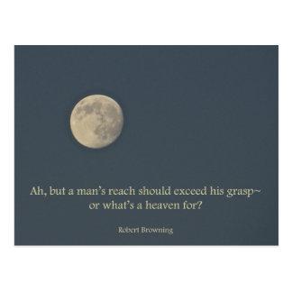 Cita de Robert Browning de la Luna Llena Tarjetas Postales