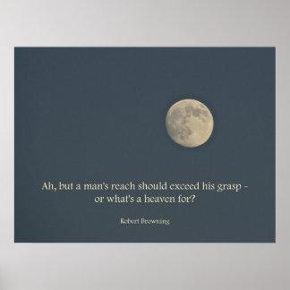 Cita de Robert Browning del poster de la Luna Llen